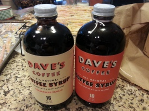 ...turns out it was Dave's Coffee Syrup which is quite tasty and a great present from the Girl as usual!