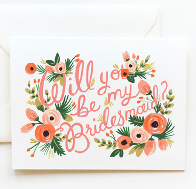 Rifle Paper Co bridesmaid card