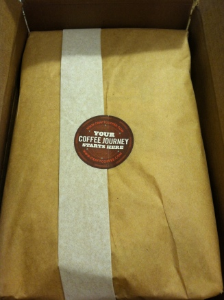 Craft Coffee monthly un-boxing.