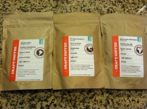 Three new coffees to try this month.