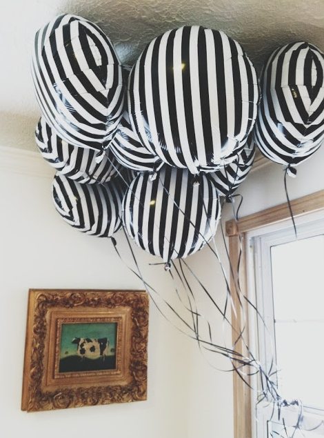 stripe balloons