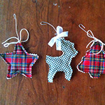 plaid christmas ornaments