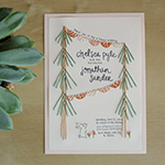 embroidered wedding invitations