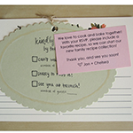 recipe card wedding RSVP