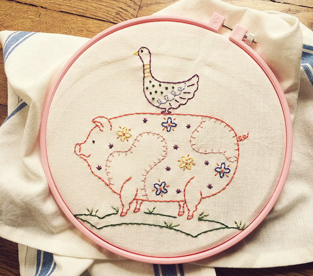 pigandgoose embroidery